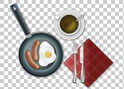 咖啡早餐香肠煎蛋欧洲美食,早餐的PNG剪贴画免费标志设计模板,食图片
