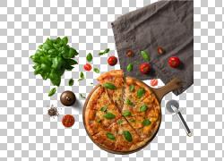 Pizza Chili con carne食品面食配料,桌布旁边的披萨,切片披萨旁图片