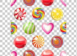 棒棒糖棉花糖硬糖,五颜六色的糖果材料PNG剪贴画爱,颜色飞溅,食物图片