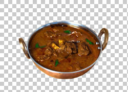 印度菜羊肉咖喱旁遮普美食Biryani山羊,羊肉,炖肉与绿色草药PNG剪图片