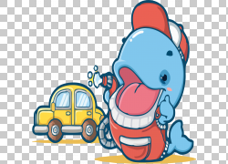 与汽车PNG clipart的蓝色企鹅蓝色,其他,脊椎动物,汽车,卡通,剪贴