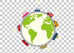 世界地图地图投影,地球上的汽车PNG剪贴画汽车事故,全球,老式汽车