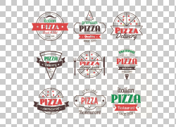 纽约风格的比萨意大利菜素食美食Logo,Pizza PNG clipart会徽,食