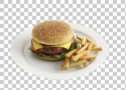 汉堡炸薯条快餐热狗早餐,早餐汉堡加薯条扣材料PNG剪贴画3D计算机