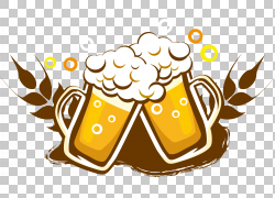 生啤酒酒饮料瓶,啤酒标志标志设计,两个啤酒杯PNG剪贴画食品,徽标图片