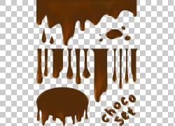 热巧克力巧克力蛋糕牛奶果仁糖,融化的巧克力,巧克力设置拼贴画插图片