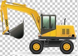 重型设备建筑工程挖掘机卡车,挖掘机PNG剪贴画建筑,汽车,工程,运