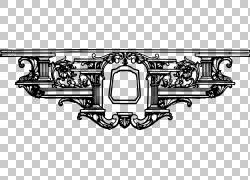 装饰线条艺术,分隔符PNG剪贴画角度,对称性,单色,武器,汽车零件,