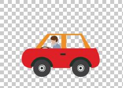 汽车司机PNG剪贴画汽车事故,橙色,老式汽车,汽车,生日快乐矢量图