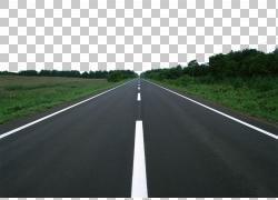 汽车控制访问高速公路路面沥青巷,森林道路材料PNG剪贴画角度,运