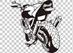 汽车摩托车墙贴花贴纸,摩托车PNG剪贴画摩托车卡通,摩托车矢量,自