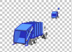 汽车垃圾车货物,免费蓝色卡车拉材料PNG剪贴画蓝色,货运,免费Logo