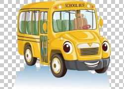 校车卡通,校车材料PNG剪贴画紧凑型汽车,学校用品,汽车,运输方式,