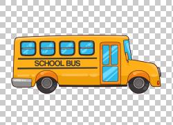 校车学生巴士司机,校车的PNG剪贴画课程,学校巴士,汽车,运输方式,
