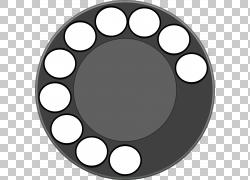 旋转拨号移动电话电话键盘,其他PNG剪贴画杂项,电话,复古,其他,黑