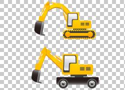 挖掘机卡通,挖掘机PNG剪贴画技术,生日快乐矢量图像,运输方式,车