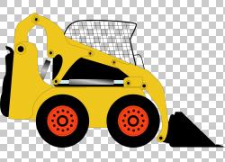 挖掘机卡通海报,手绘推土机PNG剪贴画水彩画,画,汽车,生日快乐矢