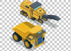 挖掘机建筑工程等距投影运输,挖掘机PNG剪贴画信息图表,汽车,卡通