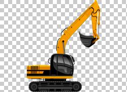 挖掘机建筑工程重型设备,挖掘机PNG剪贴画建筑,车辆,起重机,挖掘