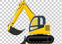挖掘机贴纸,挖掘机PNG剪贴画技术,运输方式,车辆,起重机,重型机械