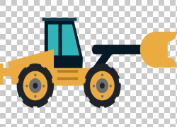 推土机建筑工程拖拉机重型设备滑移装载机,道路推土机PNG剪贴画角