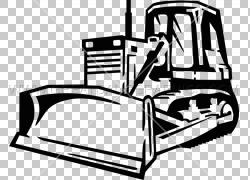 推土机黑色和白色线条艺术,推土机PNG剪贴画角度,家具,汽车,运输