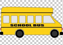 校车,校车PNG剪贴画紧凑型汽车,校车,运输方式,车辆,运输,公共汽
