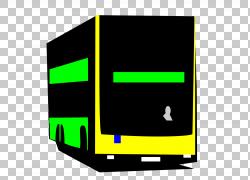 双层巴士,公共汽车PNG剪贴画角,矩形,标志,公共交通,车辆,运输,公