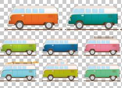 小型货车Volkswagen Type 2 Car,巴士PNG剪贴画紧凑的车,面包车,