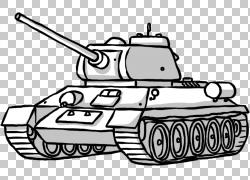 坦克汽车设计,创意手绘坦克PNG剪贴画水彩画,画,手,单色,运输方式