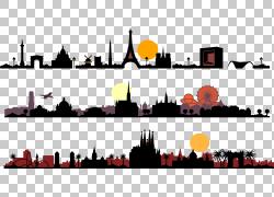 天际线轮廓,城市剪影PNG剪贴画建筑,文本,计算机,卡车,汽车,电脑