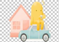 手绘房屋和汽车PNG剪贴画水彩画,其他,手,汽车,房屋,手绘,车辆,设