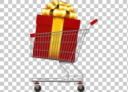 手绘礼品购物车PNG剪贴画水彩画,手,汽车,超市,生日快乐矢量图像,