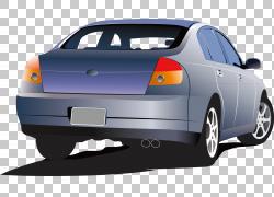 手绘精致的车PNG剪贴画水彩画,紧凑型轿车,轿车,汽车,生日快乐矢