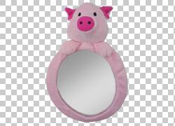 婴儿和幼儿汽车座椅填充动物和可爱的玩具儿童后视镜,小猪PNG剪贴