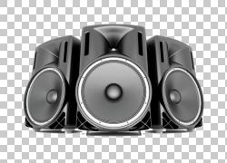 扬声器图标,大喇叭扬声器,三个灰色扬声器插图PNG剪贴画电子,大本