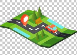 位置导航地图PNG剪贴画角,草,路线图,卡通,业务,地图,汽车图标,技