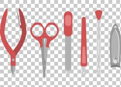 修指甲修脚指甲钳,指甲修复PNG剪贴画修复工具,生日快乐矢量图像,