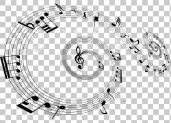 音符主题音乐乐谱,音符材料PNG剪贴画角度,生日快乐矢量图像,音乐