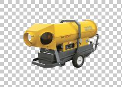 重型机械Wacker Neuson滑移装载机工具,挖掘机PNG剪贴画技术,工业