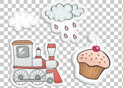 雨云蛋糕玩具车,火车,雨和蛋糕插图PNG剪贴画其他,儿童,食品,文本