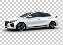 现代汽车公司汽车现代IONIQ混合动力汽车,调整PNG剪贴画紧凑型轿