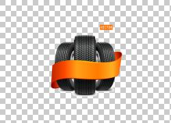 汽车轮胎带状轮,轮胎PNG剪贴画边框,橙色,自行车,车,生日快乐矢量