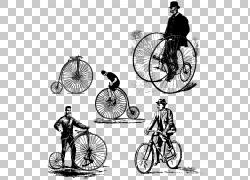 自行车古董复古服装,各种自行车PNG剪贴画自行车车架,汽车,单色,