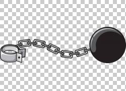球和链,手绘黑金属手铐PNG剪贴画水彩绘画,由,手绘,手铐,版税,黑
