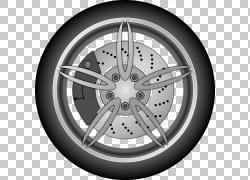 汽车轮胎轮圈,汽车轮胎PNG剪贴画卡车,自行车,单色,汽车,摩托车,