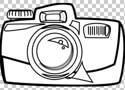 相机黑白卡通摄影,手牵手PNG剪贴画角,白,摄影,汽车,颜色,卡通,黑