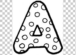 着色书字母学前字母页面,可打印字母表的PNG剪贴画儿童,三角形,单