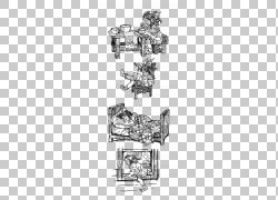 线条艺术素描,金发姑娘和三只熊PNG剪贴画角,白,家具,文字,矩形,