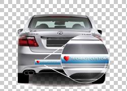汽车雷克萨斯LS贴花贴纸,汽车贴纸PNG剪贴画紧凑型汽车,排气系统,